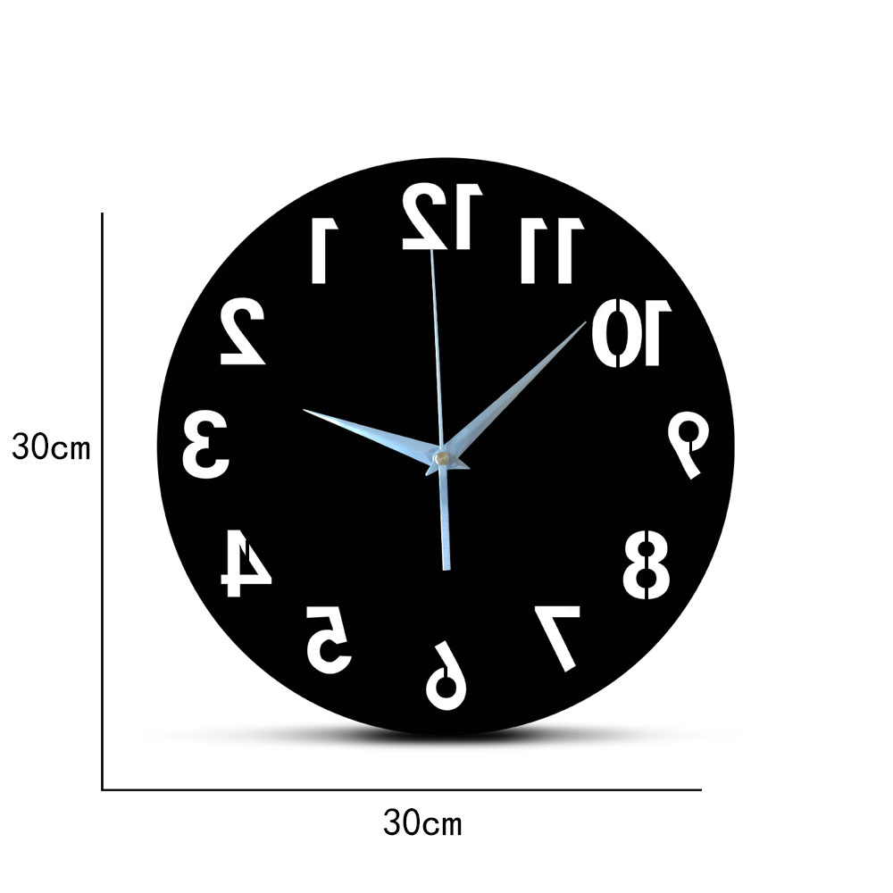 New arrive 3D acrylic mirror wall clocks quartz Needle watch modern horloge digital number clock home decor stickers Single Face|Wall Clocks| |  - title=