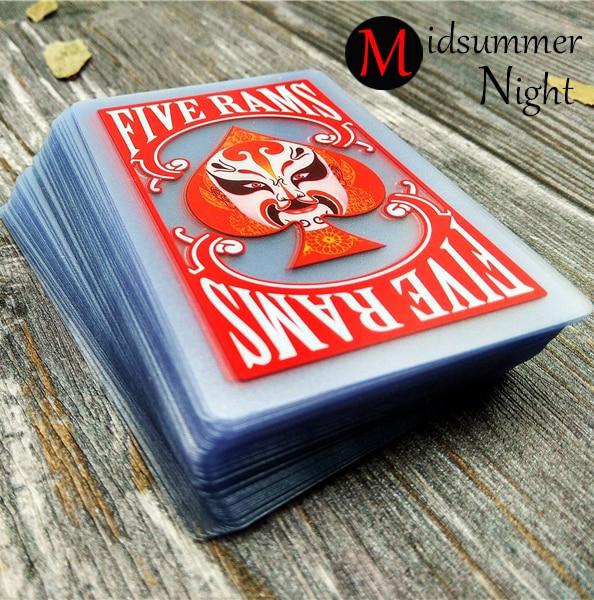 Transparent poker 100% PVC plastic playing cards Chinese style Peking Opera poker cards poker set limited sale