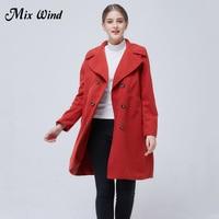 Mix Wind New Fashion Woolen Coat 2017 Autumn And Winter New Shoot Wild Long Paragraph Temperament