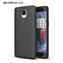 """Для oneplus 3 т/3 5.5 """"телефон обратно Защитный смартфон мягкий личи стрии противоударный чехол для Oneplus3/ 1 + 3/1 + 3 т чехол"""