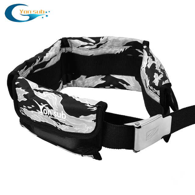 Scuba Adjustable 4/3 Pocket Diving Weight Belt With Stainless Steel Buckle Water Sport Equipment For Underwater Hunting 4 Colors