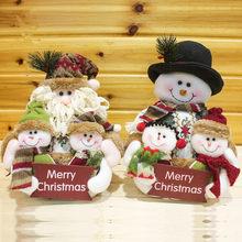 2017 Новое Прибытие Рождественская Елка Украшения Санта-Клауса/Снеговик Куклы для Партии и Стол Украшения Дома, прекрасный Новогодний Подарок