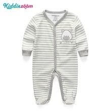 Одежда для новорожденных мальчиков и девочек; хлопковый комбинезон из плотной шерстяной ткани; пижамы с героями мультфильмов; комплекты повседневной одежды для младенцев; Playtoday Roupao De Banho