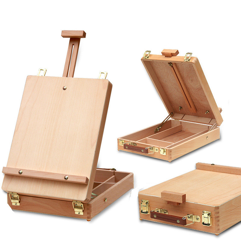Fillet Desktop Laptop Box Easel Painting Hardware Accessories Multifunctional Painting Suitcase Art Supplies Artist