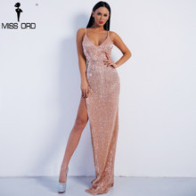 cbda1018dc Missord 2019 Sexy Deep V Off Shoulder Sequin High Split Summer Dresses  Backless Maxi Party Reflective Dress FT8400-1