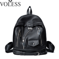High Quality Women Backpack Korean Style Pu Leather Backpacks Clothes Bag School Bags For Teenagers Mochila