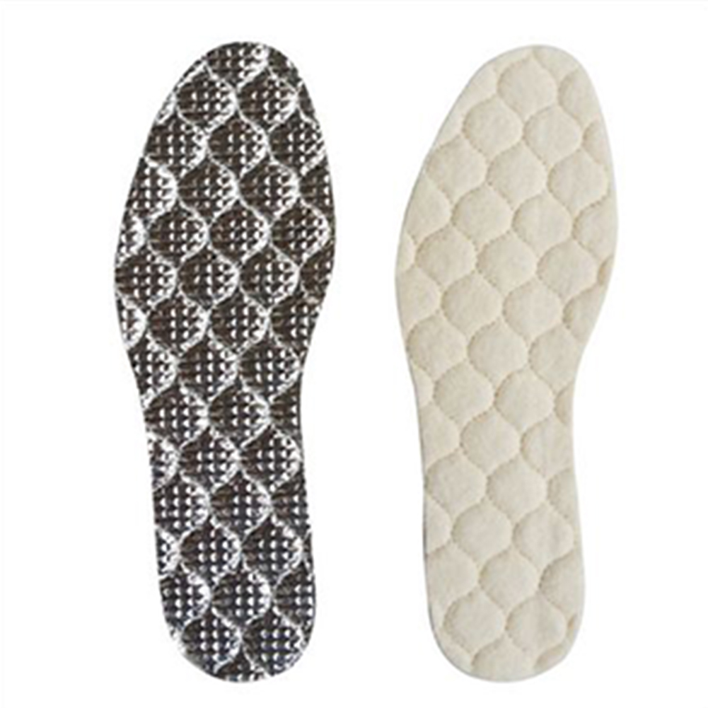 Winter Artificial Wool Warm Shoe Pad Shoes Insoles Unisex Shoe Pad For Snow Boots Shoes Aluminum Film Warm Insole