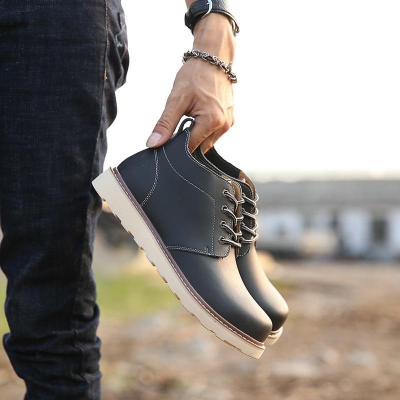 Chaussures Ipc Brown Boots Hiver À Lacets Vintage Hommes Qualité Mode Cheville Automne En Boots Casual Bottes Xp 27 Boots black khaki Cuir Haute CRrqTW4Cf