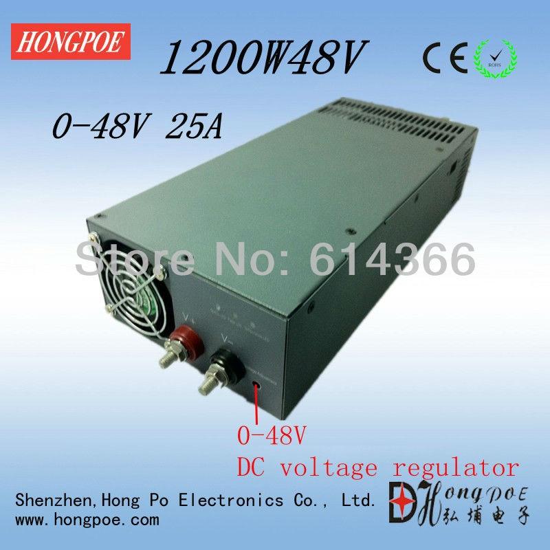 1200W 48V power supply 48V 25A 0 - 48V adjustable power supply 48V 0-5V analog signal control output voltage S-1200-48 коврик cougar control 2xl