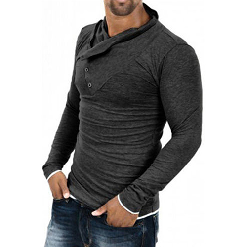 2018 SANWOOD New Arrival Men's Fashion Slim Fit Casual   Polo   Shirt Long Sleeve Tee Tops Blouse Male wholesale