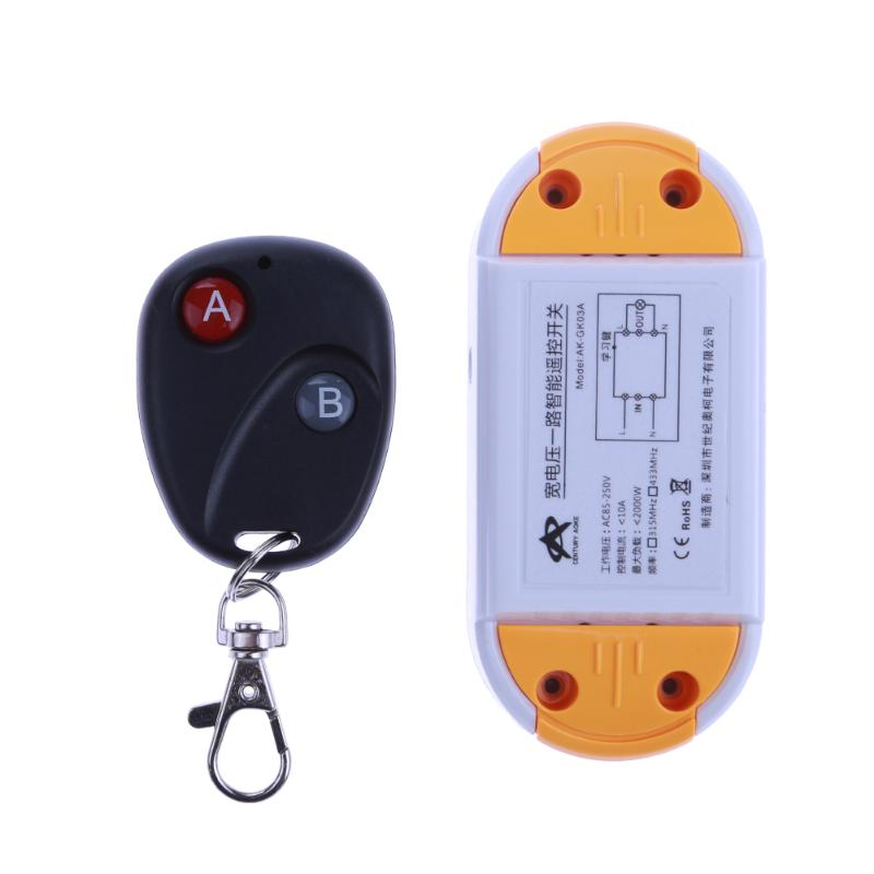 AC 220V One Way Remote Control Switch 1000W High Power Wireless Switch for Lamps Electric Doors Security Industries dc24v remote control switch system1receiver