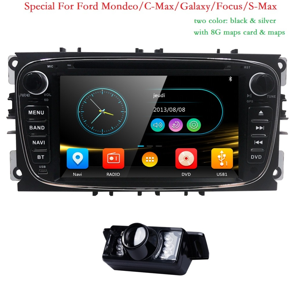 AutoRadio 2 Din Car DVD Automotivo Player For Ford Focus 2 3 C S Max Mondeo Galaxy 2008 2009 2010 2009 2010 Audio Ipod SWC BT 3G