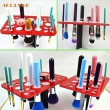 2017 Hot Acrylic Makeup brush drying rack dry brush holder brush shelf tool Mar26