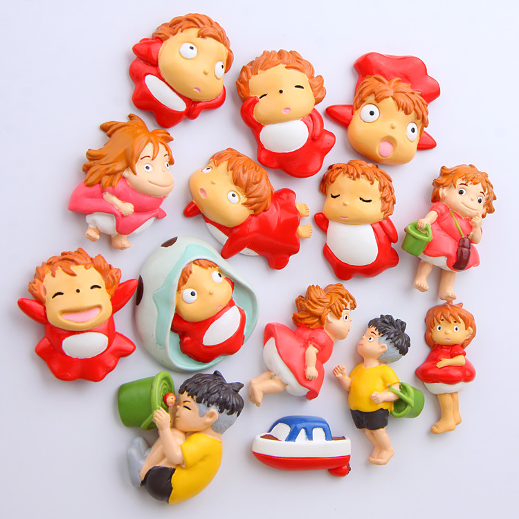 Girl Toy Figures : Japanese animation cutie ponyo on the cliff