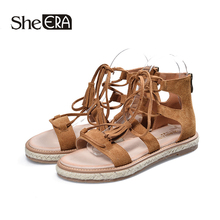 New Fashion Women Sandals Cow Suede Rome Casual Tassels Classic Shoes She ERA