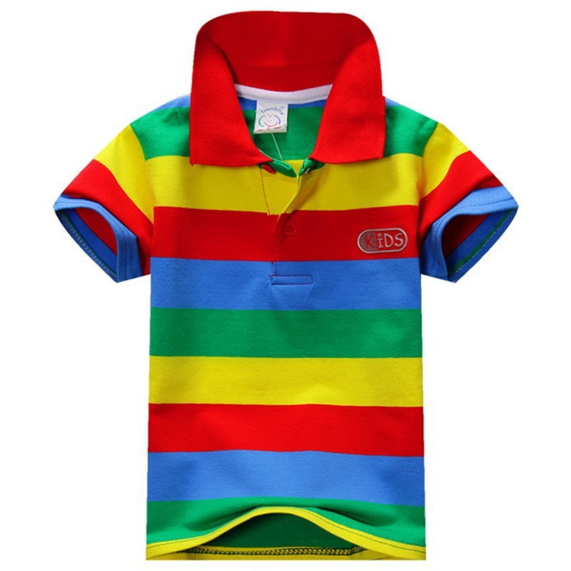 d95f02241b New Baby Boys Kid Tops T Shirt Summer Short Sleeve T Shirt Striped ...
