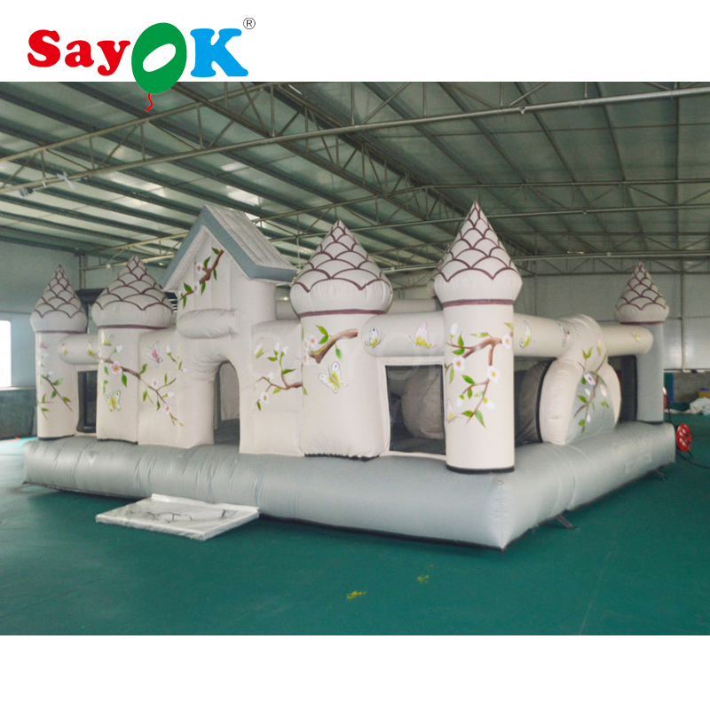 6x5.1x3.3m 2017 New design inflatable bouncer castle air bouncer inflatable trampoline with inflatable obstacle course for sale factory direct inflatable trampoline inflatable castle inflatable slide obstacle cn 124