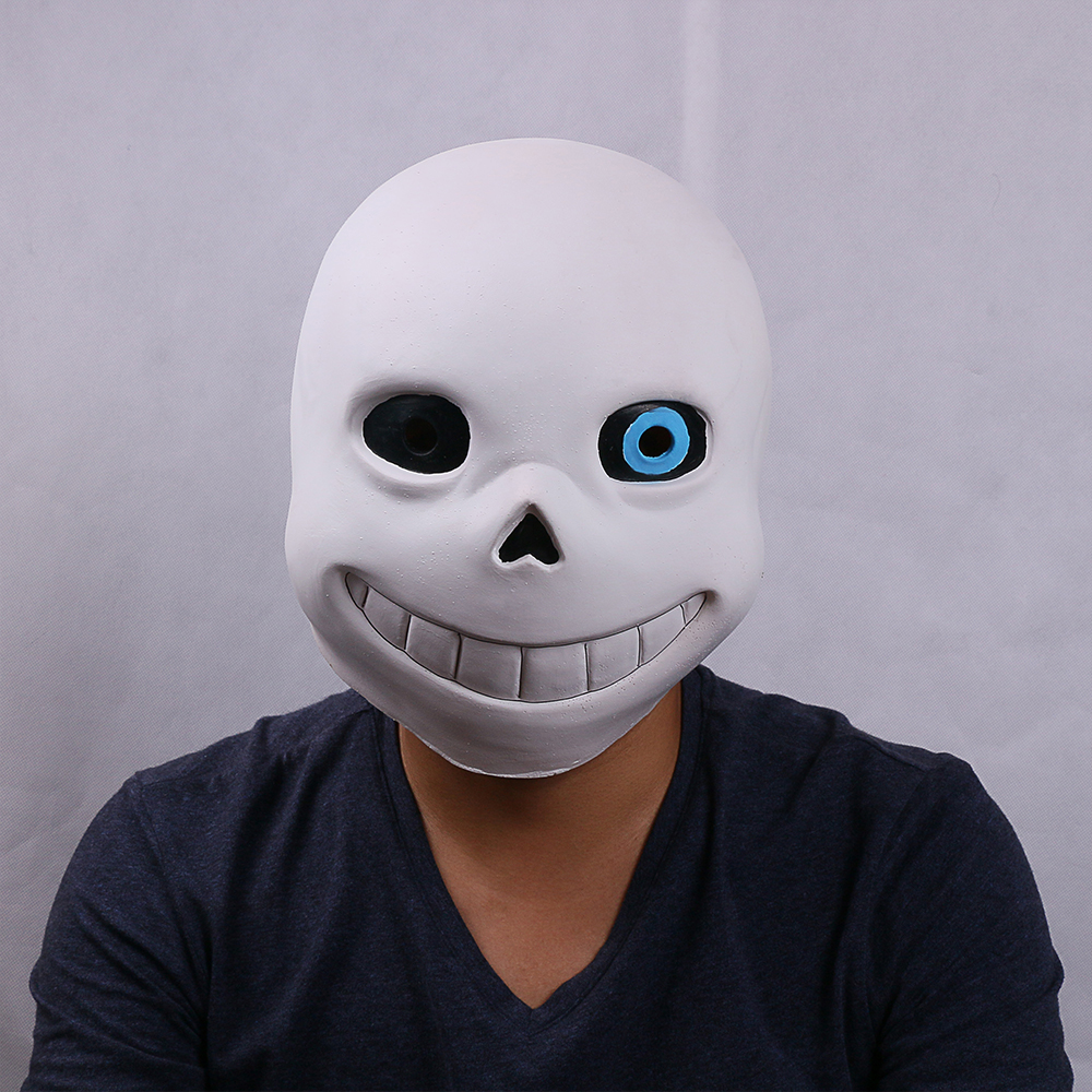 Undertale Sans Mask Helmet Cosplay Halloween Party Latex Adult Mask Props New
