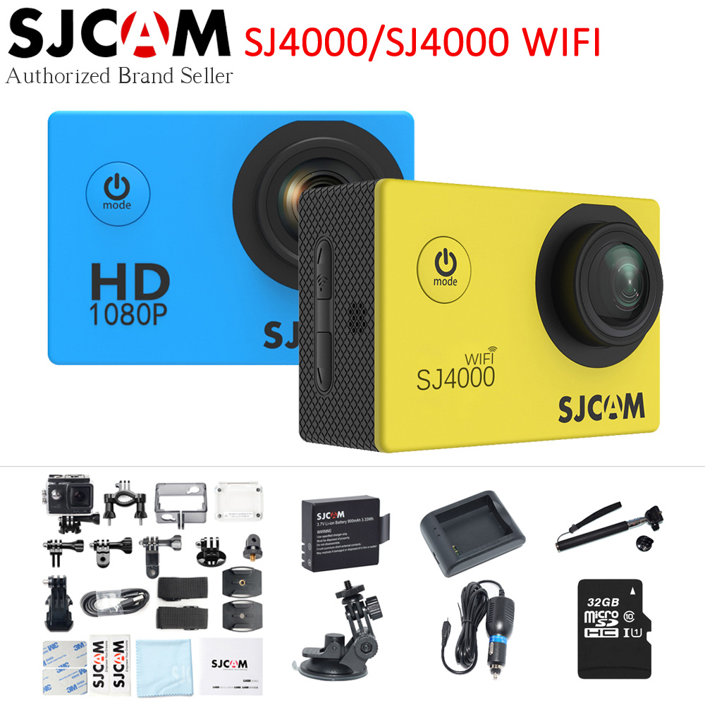 Newest Original SJCAM SJ4000 Wifi / SJ4000 2.0 LCD Screen Action Camera Upgrade SJ CAM 4000 Series 30m Waterproof Mini Sport DV