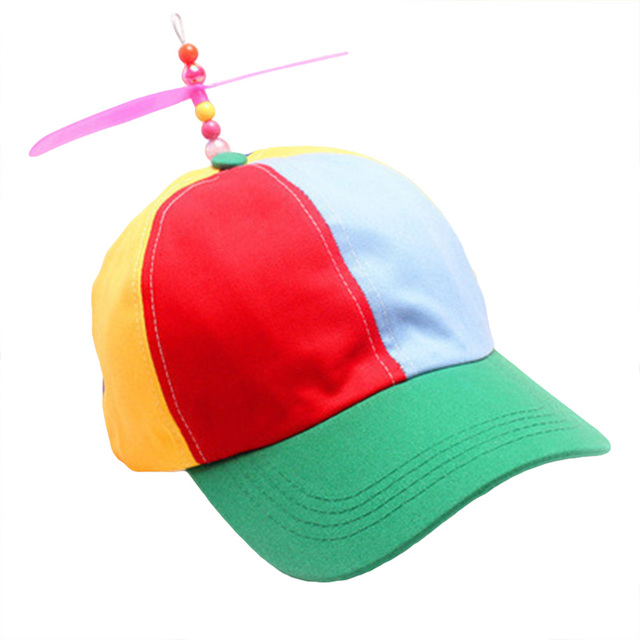 4afbcf4c49f69 1 PCS Men Women Adult Propeller Hat Colorful Patchwork Funny Baseball Hats  Propeller Bamboo Dragonfly Sun Hat Casquette Snapback