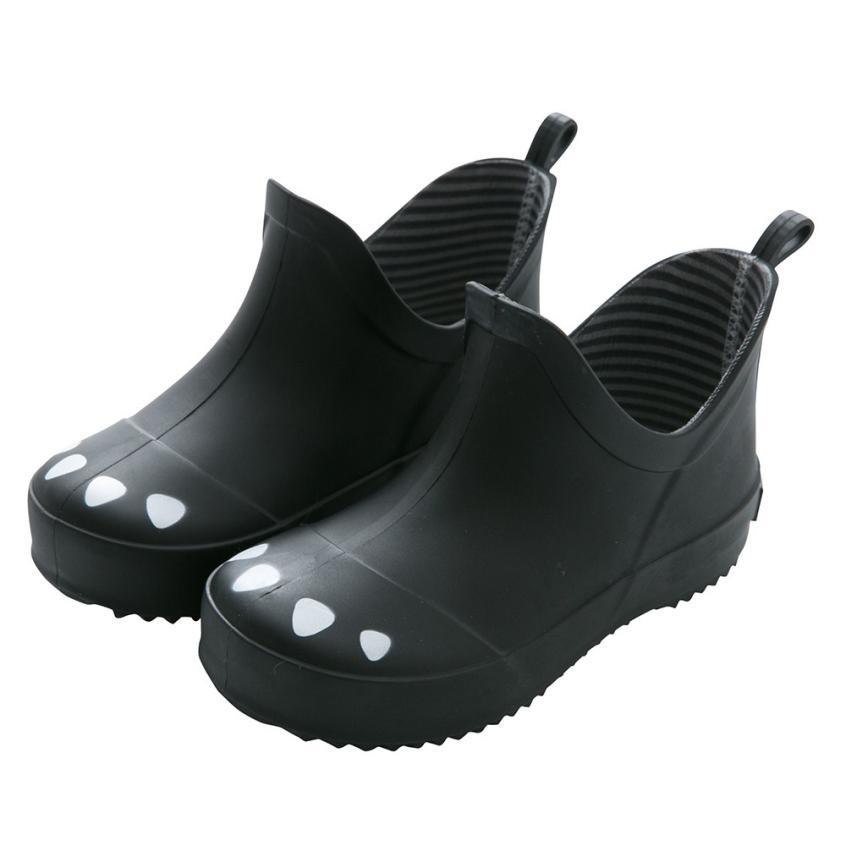 BMF TELOUTNY Fashion Rubber Rainboots Infant Kids Child Cartoon Paw Striped Rubber Rain Waterproof Boots Rain Shoes Mar25