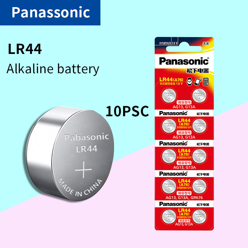 10X PANASONIC LR44 A76 AG13 0%Hg SR1154 357 LR 44 1.5V Cell Battery Batteries For Calculator 0%Hg