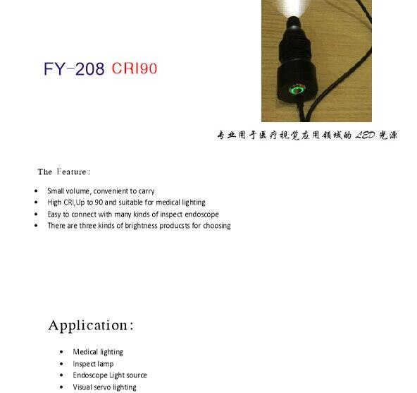 USB Fournir ENT Llight source LED portable endoscope source de lumière source de lumière, lumière ambiante/FY208 50 pcs/sac livraison gratuite.