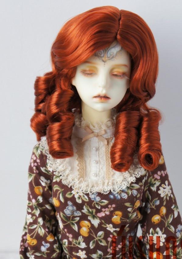 JD324 1/3 SD синтетический, мохеровый, для куклы парики 8-9 дюймов 21-23 см Шанхай Благородный Леди Ретро стиль волос - Цвет: Carrot Red