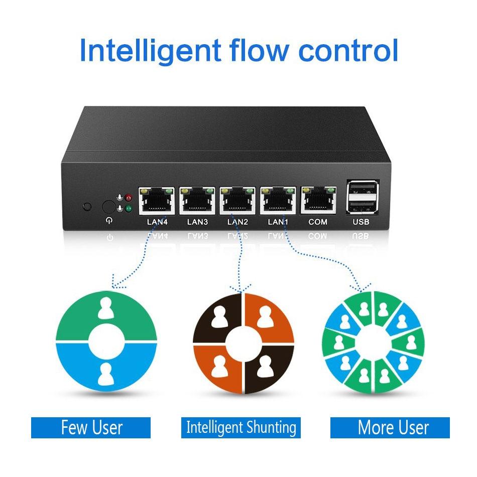 Mini PC 4 LAN Router Cortafuegos J1800 Celeron J1900 Procesador Quad - Mini PC - foto 3