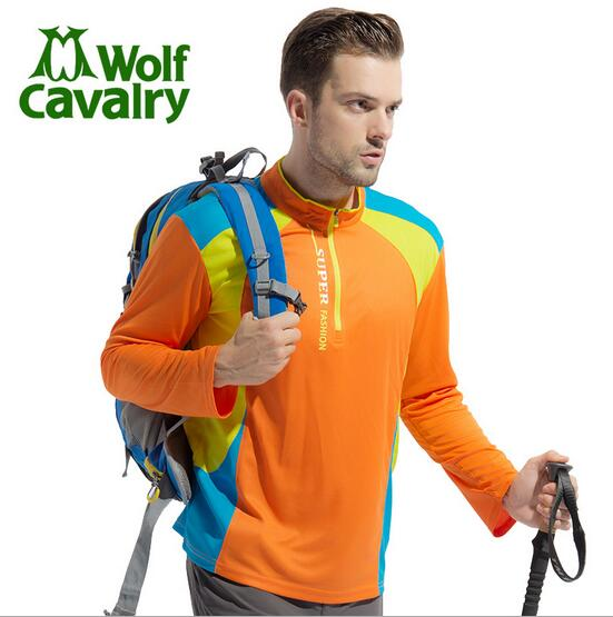 CavalryWolf new hiking camping hiking mountaineering climbing rafting beach Men multifunctional breathable quick-drying T-shirt
