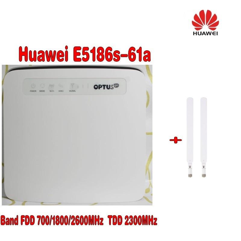 (ja Optus Logo) Entriegelte Huawei E5186 E5186s-61a 700/1800/2600 Mhz Fdd 2300 Mhz Tdd Wireless 4g 300 Mt Cpe Wifi Router + 4g Antenne