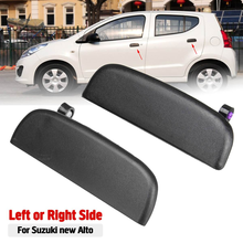 Exterior Door Handles Car Front Rear Outer Exterior door Open Handle Outside Doors Knob Left Right Black For Suzuki New Alto