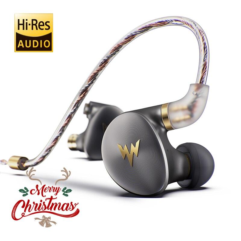 ThundeaL A-HE03 Juteux Basse Écouteurs HiFi Salut-Res Casque Dynamique Hybride 2 Knowles Armature Son Clair Métal Dans L'oreille écouteurs