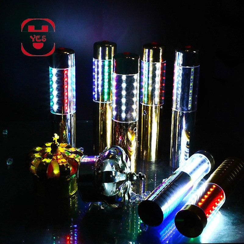 Image 2 - Sim colorido luzes led champanhe luminescente vara sparklers  garrafa flash strobe haste champanhe rolha barra/ktv/festa vinho  adereçosProdutos fluorescentes p/ festa
