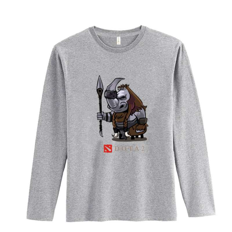 Game Dota 2 Style Black White Cotton Long Sleeve T Shirt