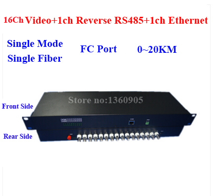 16V1D1E CCTV Security Video Data Ethernet Fiber Optical Media Transceiver 16ch Analog+1ch RS485 data +1ch 10/100M RJ45 20KM FC new 1ch hdsdi multifunction optical media converter 1080p transceiver video ethernet rj45 rs485 data audio over single fiber