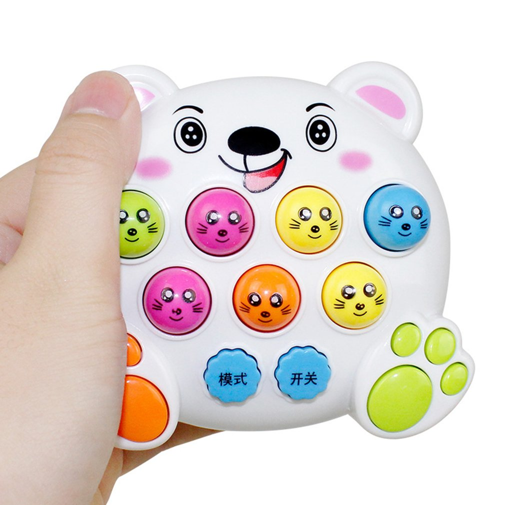 Mole Hamster Attack Toy Electronic Musical Light Kids Baby Early Education Learning Game Toy Mini Intelligent