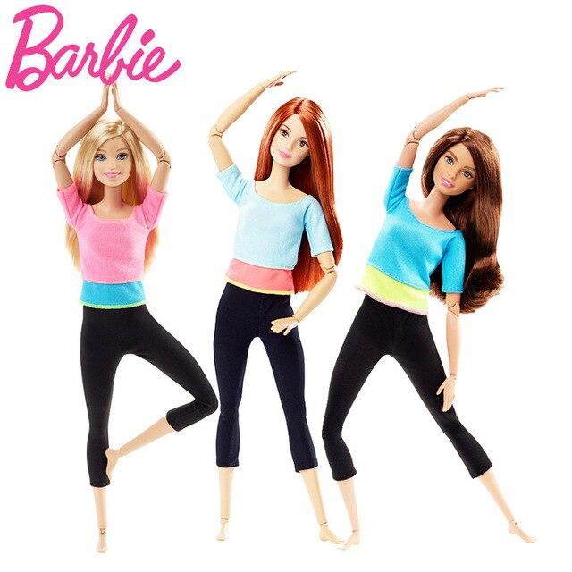 Original Barbie Puppe Bewegung Stil Gelenke Beweglichen Yoga Mode Barbie Mädchen 2018 Geschenk Die Mädchen EIN Geburtstagsgeschenk Mädchen Boneca