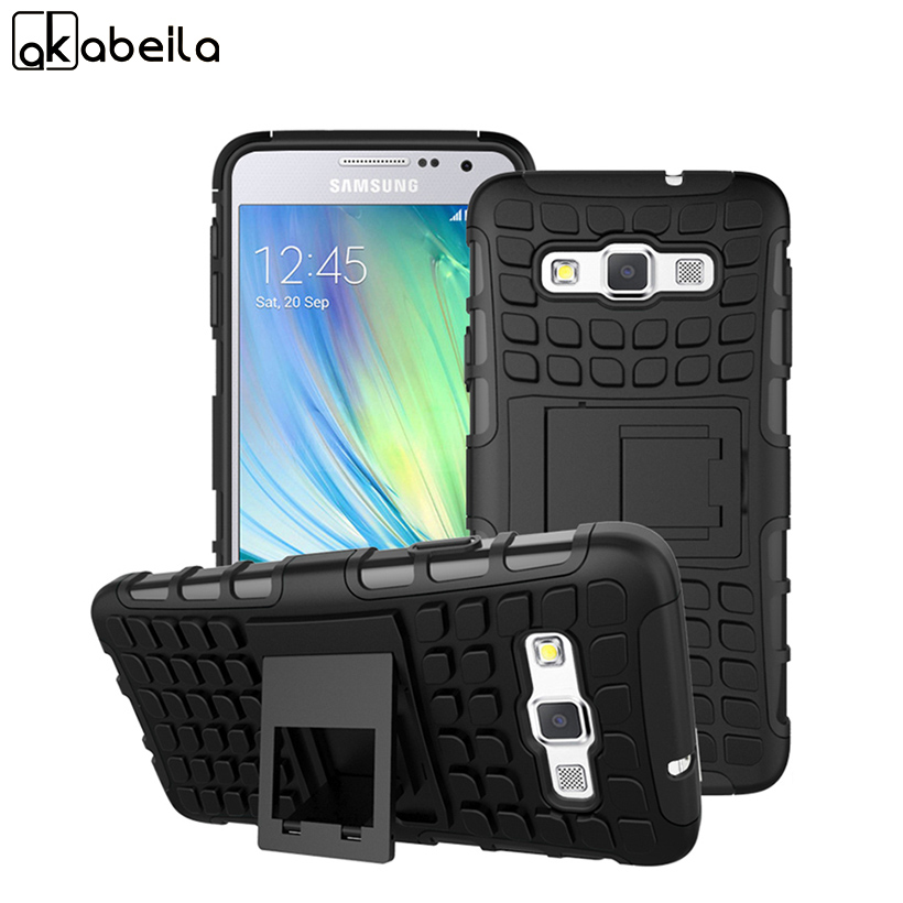 AKABEILA Cell Phone Cases For Samsung Galaxy A3 2014 Cover SM-A300FU A300 A3000 A3009 A300F Cover Armor Hybrid Tyre Case Shell