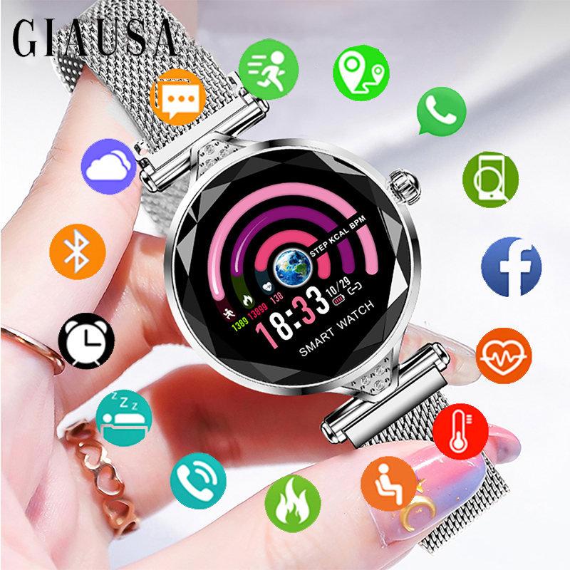 New Luxury Smart Watch Women 2019 Sport IP67 Waterproof Bluetooth For Android IOS Iphone Smartwatch Gift For Girlfriend/LadyNew Luxury Smart Watch Women 2019 Sport IP67 Waterproof Bluetooth For Android IOS Iphone Smartwatch Gift For Girlfriend/Lady