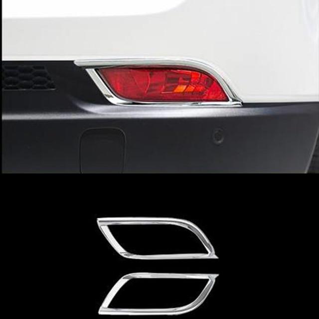 Автомобиль Интимные аксессуары пригодный для Jeep Компасы 2017 2018 ABS Chrome сзади противотуманные свет лампы Cover планки Хвост Туман свет украшения кадры 2 шт.