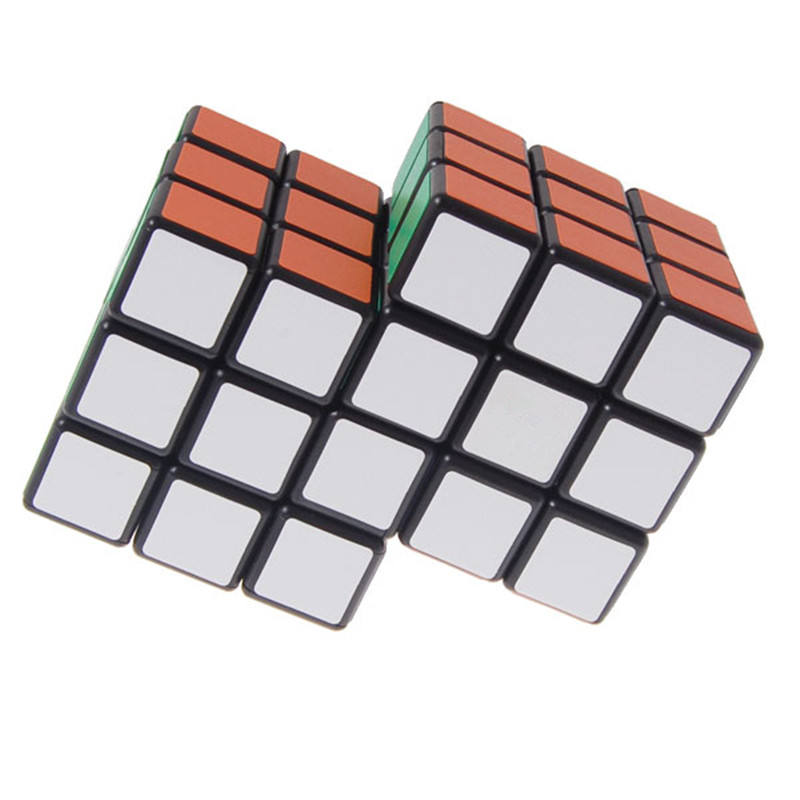 2017 New 2 in 1 Conjoined Puzzle Magic Cube 3x3x3 Black New Version Educational Toy Special