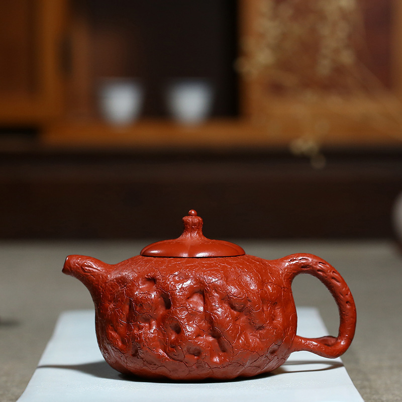 Manual Quality Goods Raw Ore Bright Red Robe For Spring Pot Kungfu Online Teapot Tea Set Preserve Ones Health Kettle GiftManual Quality Goods Raw Ore Bright Red Robe For Spring Pot Kungfu Online Teapot Tea Set Preserve Ones Health Kettle Gift