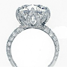 Vecalon 2016 nueva Flor Romántica Femenina anillo 3ct Simulada diamond Engagement wedding Band anillo Cz 925 Plata Esterlina para las mujeres