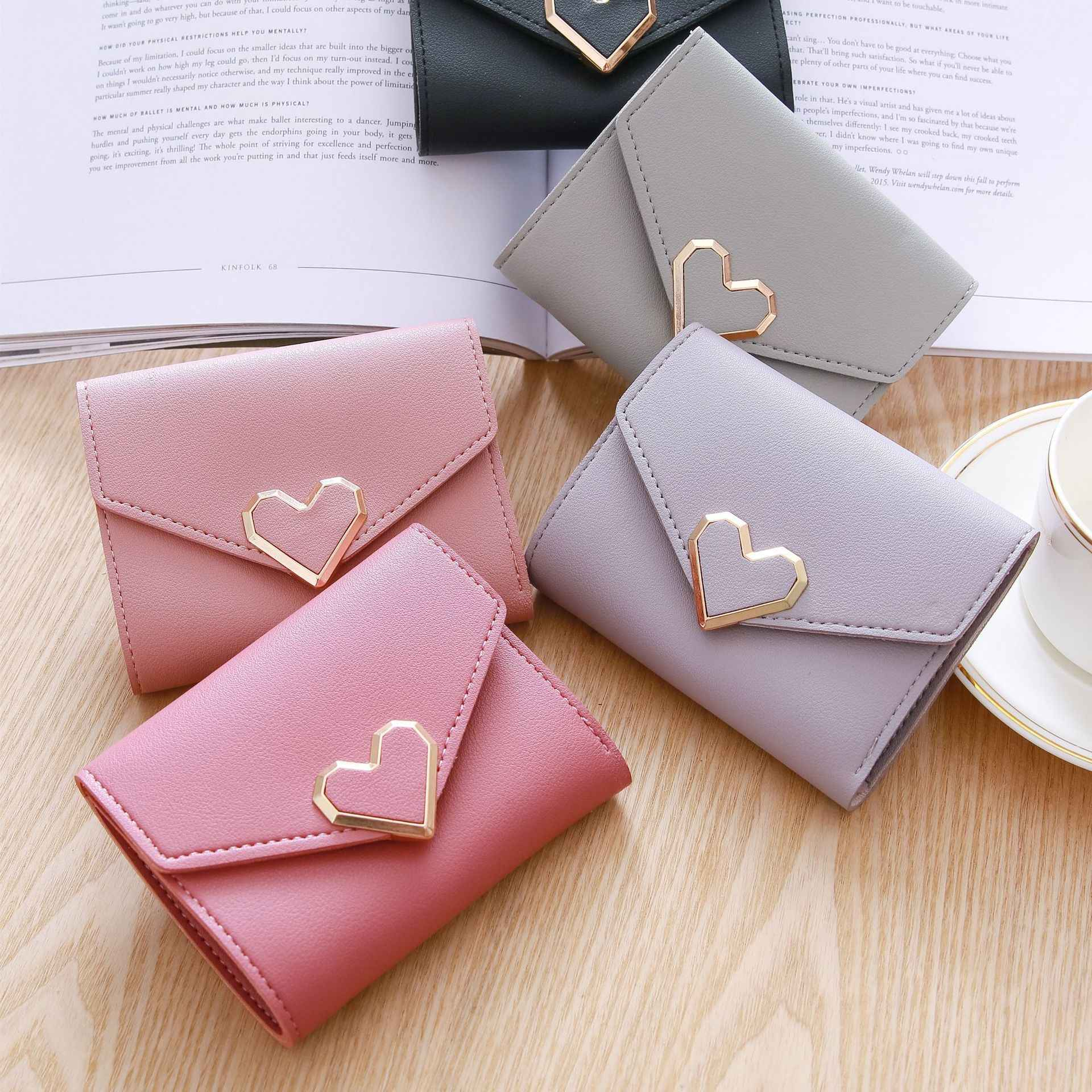 0c020a33fdd8 NEW Leather Women Wallet Hasp Small Coin Pocket Purse Women Wallets ...