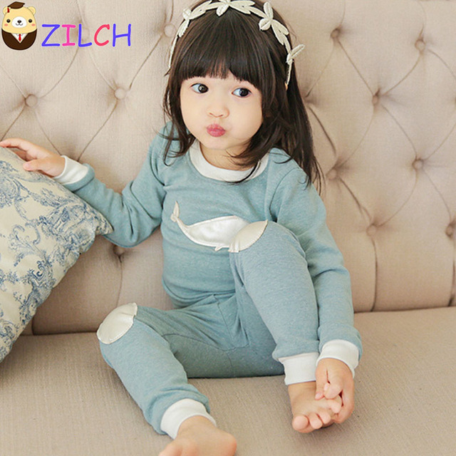 16595f50e5df Korean Autumn and Winter Underwear Suit Cotton Home Service Children's  Clothing Long-sleeved Girls Sleeping suit 80 90 100 110cm