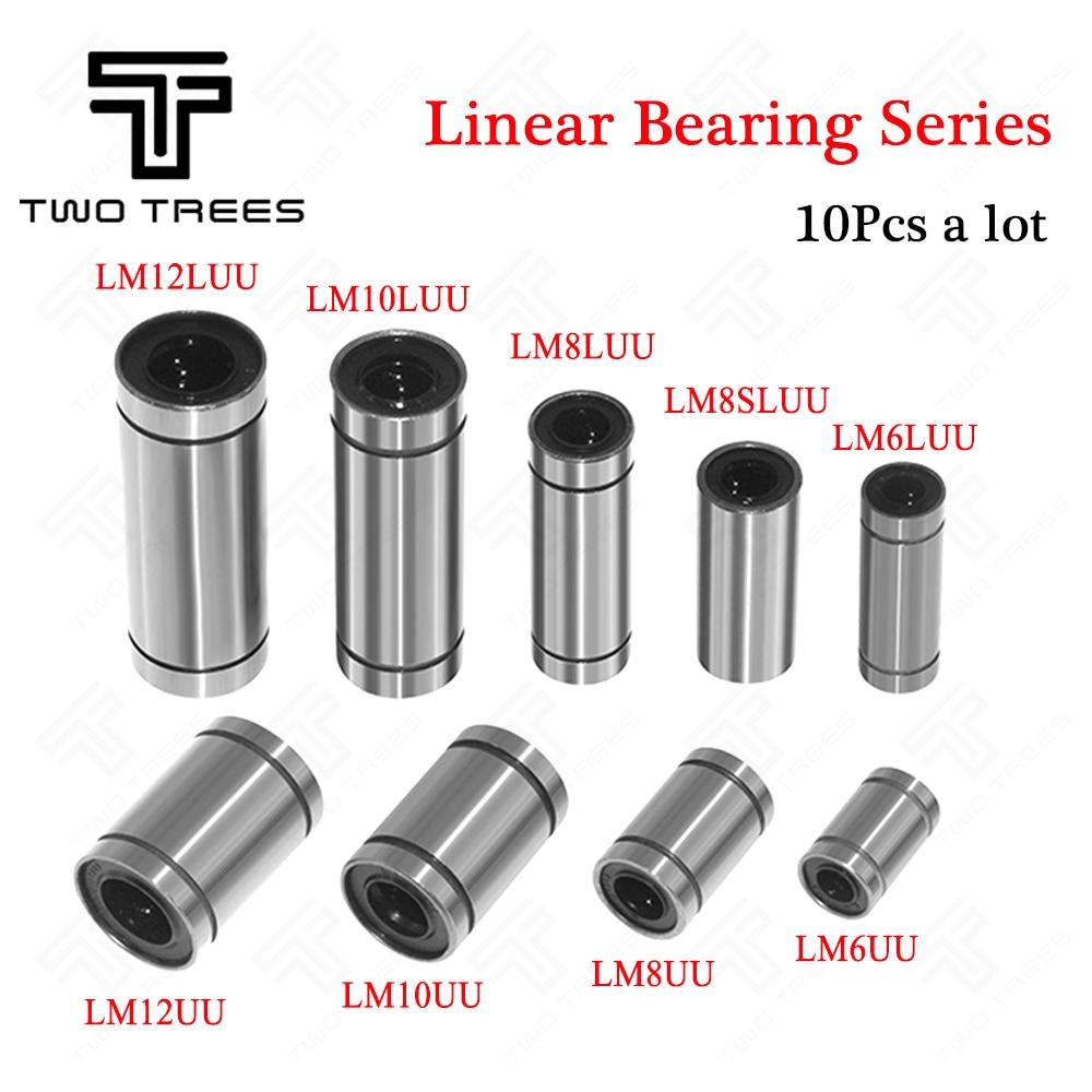 2Pcs LM8LUU Long Linear Motion Ball Bearing Bush Bushing CNC Parts For 8mm Rod