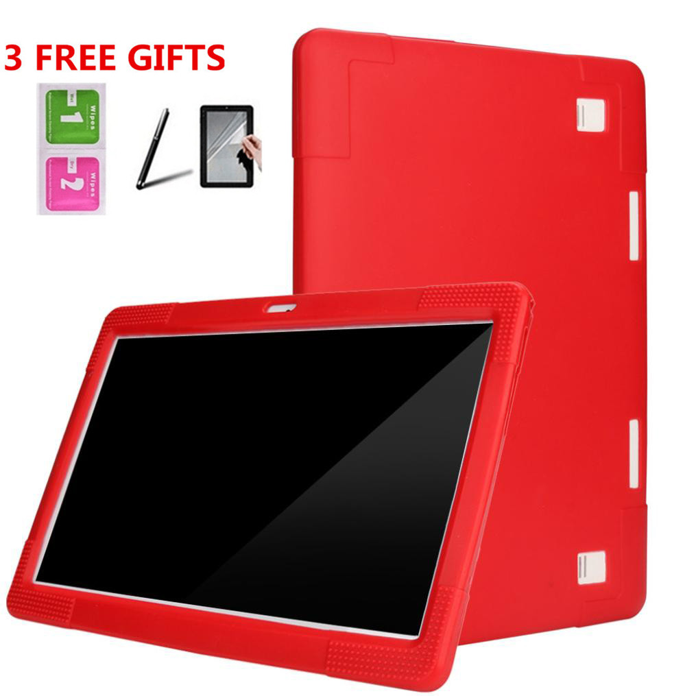Universal Silicone Cover Case For 10 10.1 Inch Android Tablet PC + Pencils +Film 6J18 Drop Shipping