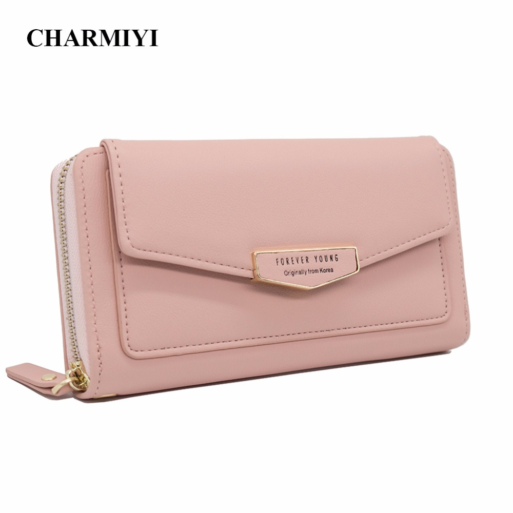 CHARMIYI Ladies Purses Brand Women Long Zipper Large Capacity Woman Wallets PU Leather Female Card Holder Clutch Coin Wallet