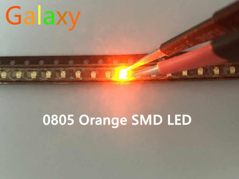 0805 smd led rojo amarillo verde blanco azul naranja diodo emisor de luz 100 unids/lote